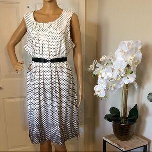 Perceptions New York Sleeveless Dress Polka Dot XL